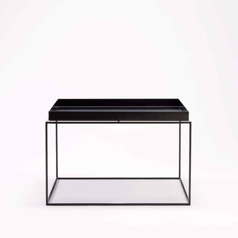 hay tray table 60x60 black interi r p nett. Black Bedroom Furniture Sets. Home Design Ideas