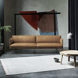 Outline Sofa 3 seter - skinn