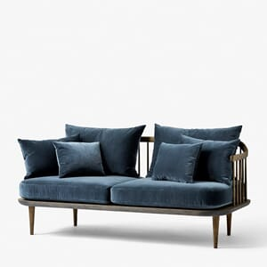 Fly Sofa SC2 Røkt Eik/Harald Velour Blue