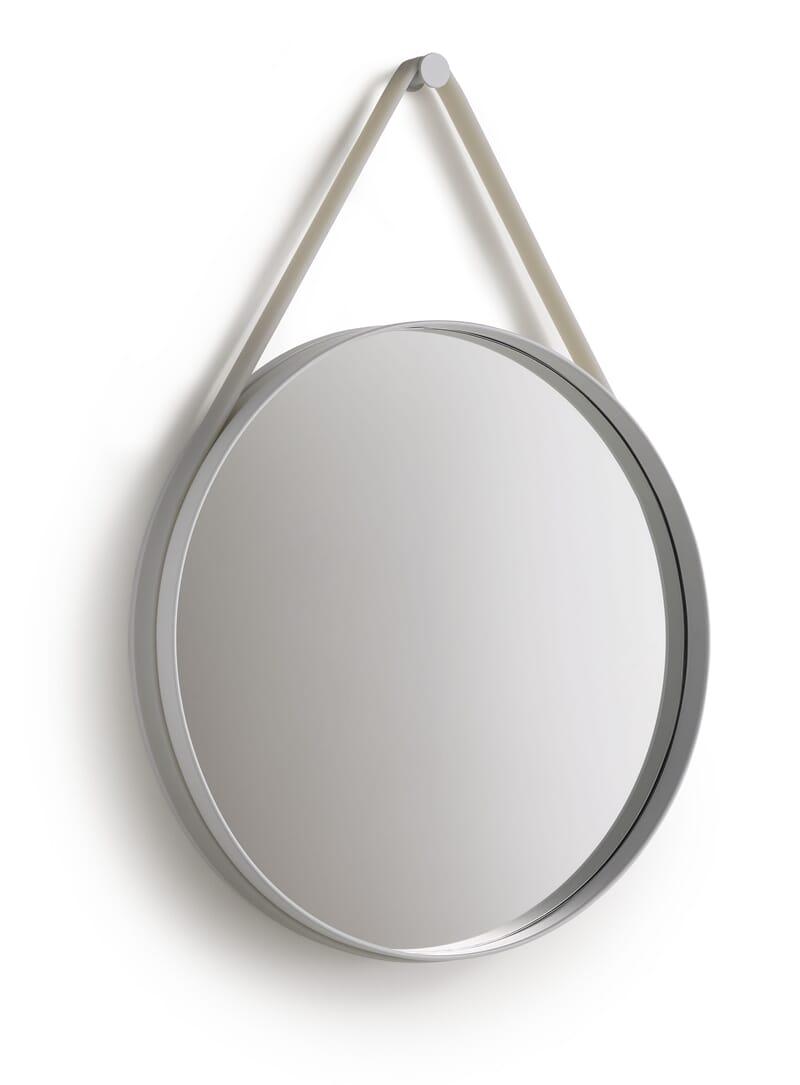 Hay Strap Mirror Grey 50 cm - Lunehjem.no - interiør på nett
