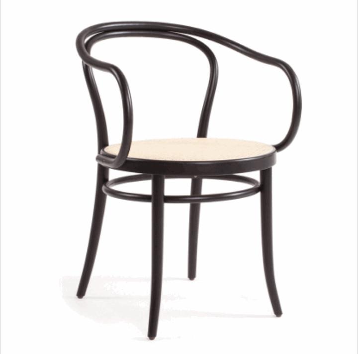 Ton stol no 30 svart m/rotting   lunehjem.no   interiør på nett
