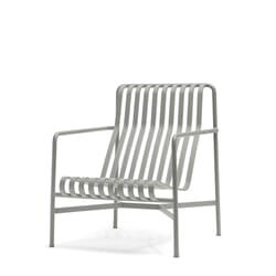 Palissade Lounge Chair High Creme White