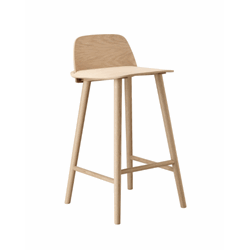 Nerd Bar Stool H:65 Oak