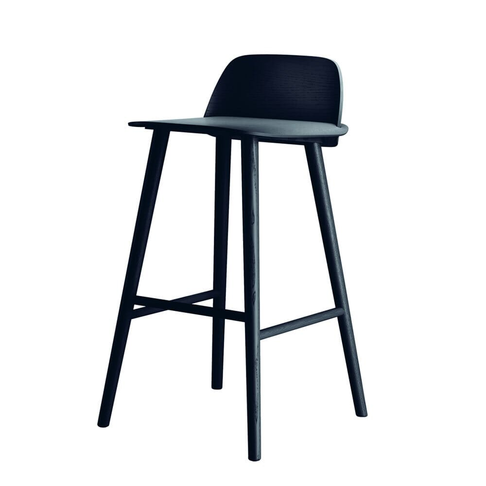Muuto Nerd Bar Stool H:65 Dark Grey Lunehjem.no Interiør