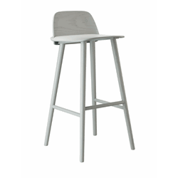 Nerd Bar Stool H:65 Grey