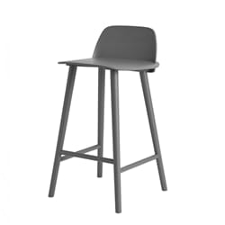 Nerd Bar Stool H:65 Dark Grey