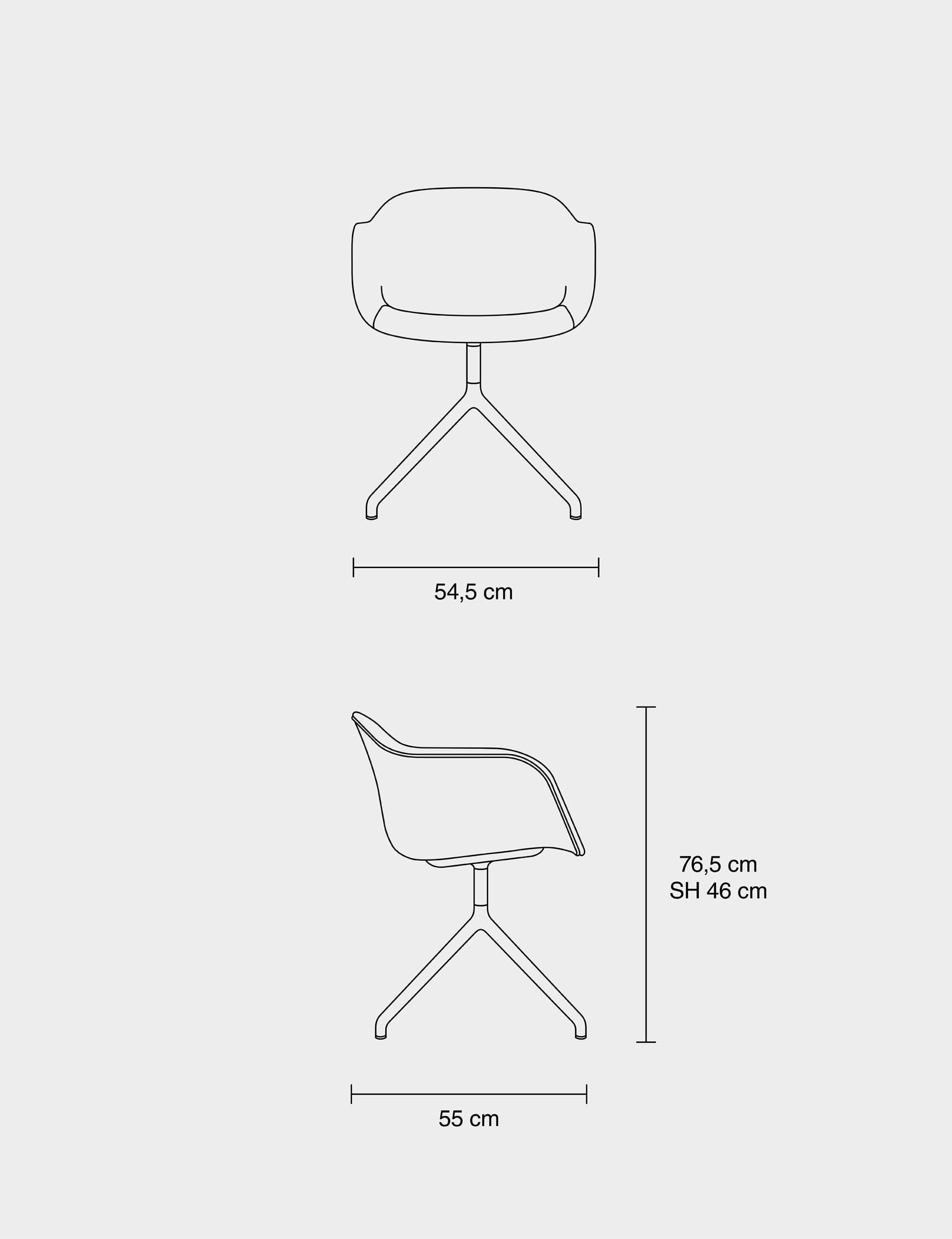 Muuto Fiber Chair Swivel Base Lunehjem.no Interiør på nett
