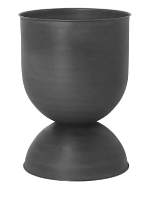 Hourglass Pot Black Large