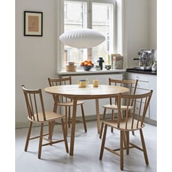 hay113_Rel Bubble Lamp Saucer M_J41 oiled oak_Triangle Leg Table oiled oak.jpg