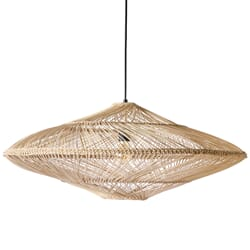 Taklampe Wicker Natur Oval