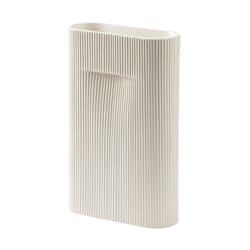 Ridge Vase Off White H:35