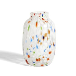 Vase Splash White Dot L