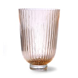 Vase HK Ribbed Peach H:27