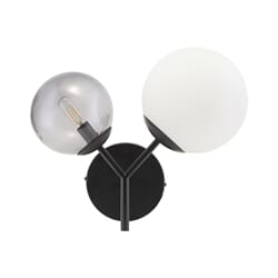 Vegglampe Twice Black